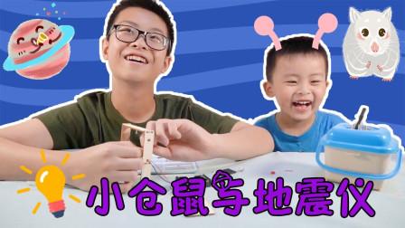 兄弟俩自制地震仪,小仓鼠也来瞎折腾,它会变成实验小白鼠吗?