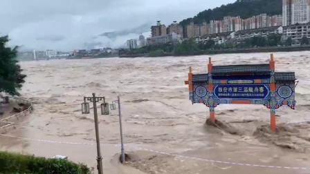 """雅安""""8·22""""特大暴雨:2人因灾死亡 近10万人受灾"""