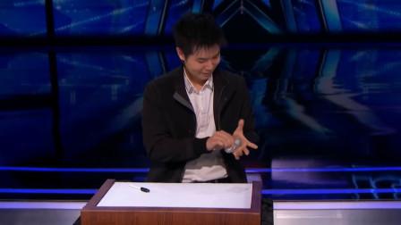 中国小伙在国外综艺节目中表演魔术,导师被惊艳到