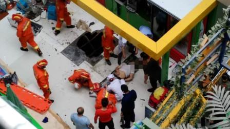 【天水】男子商场内5楼坠落 砸穿地板跌落至地下层生还