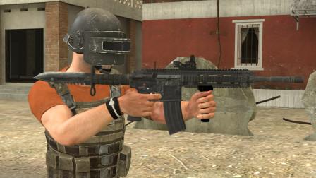 吃鸡动画:M416和大砍刀组成的新武器,一开枪就不对劲了