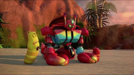 爆笑虫子:沙雕头发被螃蟹削光,头顶亮得射爆螃蟹星球