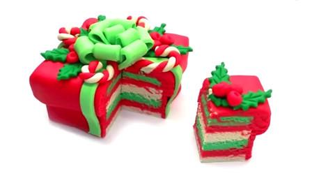 彩泥手工制作 制作一个漂亮的礼品包装盒蛋糕