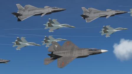 4架歼20 跟4架歼31,低空突袭打击敌方军事基地!会成功吗?战争模拟