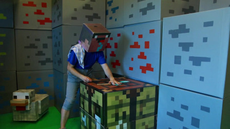我的世界动画-菜鸟打造钻石护甲-Brick Real Games