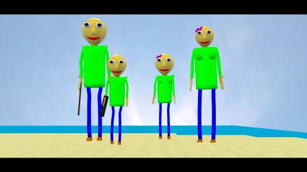 我的世界动画-怪物学院-巴迪来到了海滩-IRONIMATION