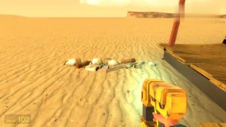 GMOD游戏植物僵尸怎么跟着站在垃圾桶旁的海绵宝宝?