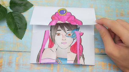 创意手绘叶罗丽舒言变换女生长相,穿上茉莉仙子组合太有趣又好看