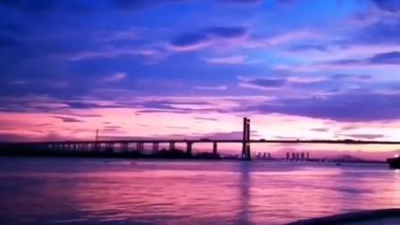 好看到失语!台风白鹿登陆前夕 潮州现紫色绝美晚霞