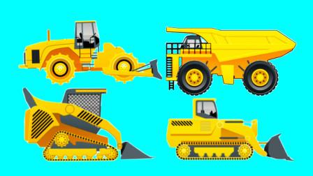 [亲子阿克]工程车视频 工程车拼图 拼装不同造型的铲车