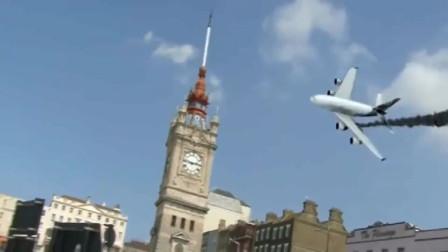 电影特效制作逼真的飞机坠落画面,如果没有后半段,还以为是真的