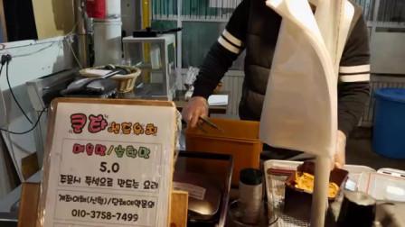 街头美食 - 韩式马苏里拉芝士三明治