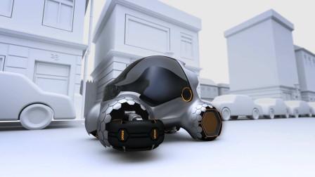 奔驰制造的一款迷你小车,可以倒立停车,能像壁虎一样在墙上爬!