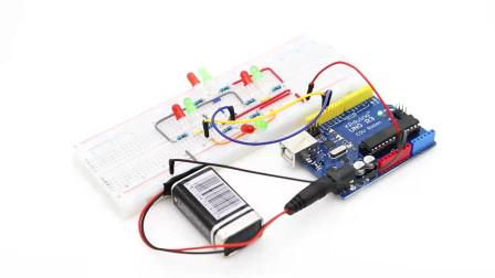 Arduino 两个引脚控制的简易红绿交通灯