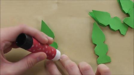手工折纸,自己做圣诞星圣诞装饰用纸做装饰之类的