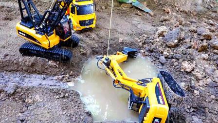 最新挖掘机视频表演3639大卡车运输挖土机+挖机工作+工程车