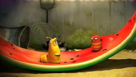 爆笑虫子:小红吃西瓜嘚瑟,看小黄怎么整他,一顿好打