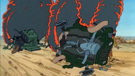 丁丁历险记:坏人出动战斗机炸丁丁,没想到丁丁早已骑马逃跑