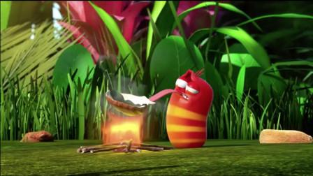 爆笑虫子:红虫用舌头拿锅颠勺炒海带,一次能炒三锅