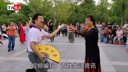 激情动感的广场新疆舞 邓建国与田小红幽默共舞