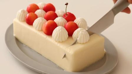 入口即化的乳酪蛋糕,原来材料做法这么简单!动手做个给女儿吧