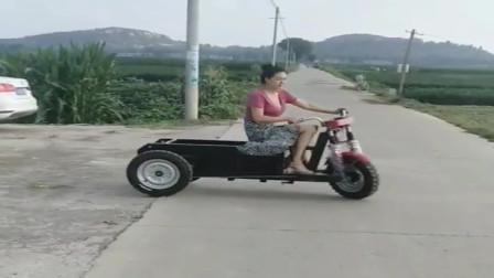 专为农村女司机设计的三轮车,看着很稳,再也不怕翻车了!