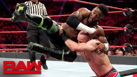 【RAW 08/26】凯萨罗将对方高踢转换成脚踝锁