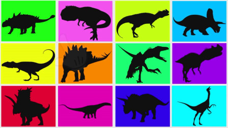 有趣的恐龙卡片 认识角鼻龙等16种恐龙