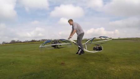 悬浮飞行的自行车,再也不怕堵车了,时速超过40千米每小时