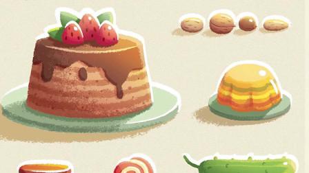 【绘本插画】作为一名资深吃货,布丁、糖果、慕斯当然通通都不能错过