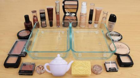 用咖啡色和肉色的化妆品做无硼砂泥,混合后会是什么颜色?