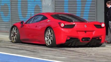法拉利不允许跑车刷圈速,老外非是不听,一脚油门400万玩完了!