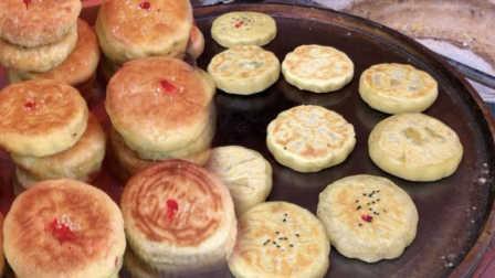 五仁月饼受欢迎实锤!女子手工烤制陕北土月饼:五仁最好卖