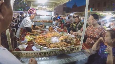 减肥者不能看!逛新疆的夜市,恨自己只有一个胃!