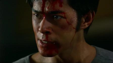 野兽之瞳,古天乐挑战外国拳手,双臂都断了只能用头撞对手