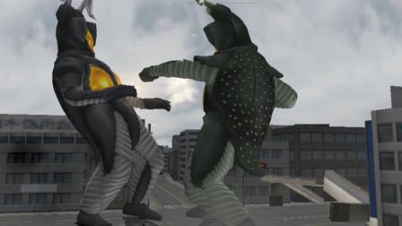 奥特曼格斗进化三:用杰顿挑战五招内击败杰顿 这俩家伙是拆迁队的吧