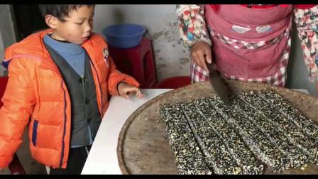 农村生活,小时侯味道湖北特产麻糖 纯手工制作全过程 简单易学人人会做