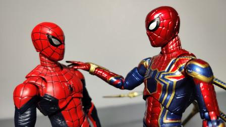 开箱断爪?不存在的。mafex钢铁蜘蛛侠shf红黑蜘蛛侠开箱对比简评 莫叔叔的玩物83漫威复仇者联盟4手办模型玩具
