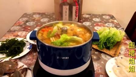 海鲜火锅的家常做法,汤汁浓郁,食材鲜美,上桌就抢光