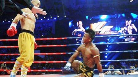 播求VS一龙,播求疯狂顶膝,一龙一记前手摆拳直接KO播求