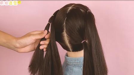 一款唯美的小女孩花朵发型,扎法详细简单,不用头饰也很漂亮