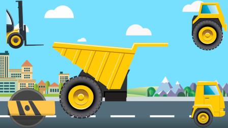 汽车玩具屋 工程车拼图 拼图成为一台完整的工程车