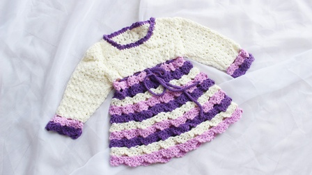 织一片慢生活---拼色蛋糕连衣裙
