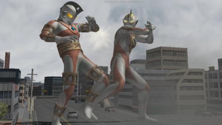 奥特曼格斗进化三:挑战用盖亚五招内击败机械艾斯  浑身铁皮还真不好打