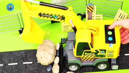 惯性工程车玩具,超级车库,消防车警车,火车,挖掘机_玩具车辆,儿童玩具亲子互动,悠悠玩具城