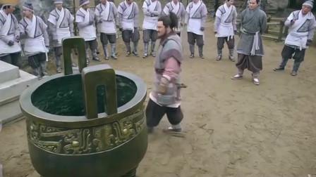 项羽举鼎,不愧是西楚霸王,一只手就把鼎举了起来!