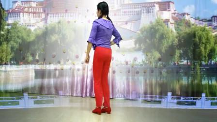 池州天缘广场舞《玛尼情歌》1优美动听--简单32