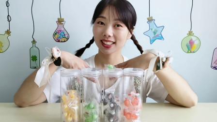 """美食拆箱,小姐姐吃""""眼珠子糖"""",趣味造型多彩多味好喜欢"""