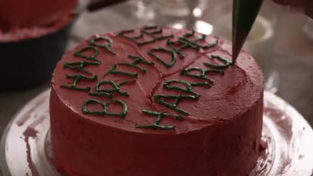 《韩国农村美食》哈利波特的第一个生日蛋糕,连上边的裂纹都一模一样,有创意
