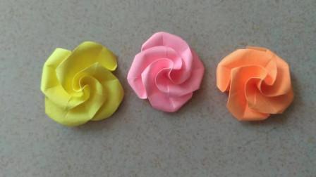 最简单的折纸玫瑰花来了!折法不能再简单了,新手也能马上学会